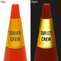 Survey Crew Cone Message Collar Sign