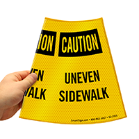 Caution Uneven Sidewalk Road Traffic Sign