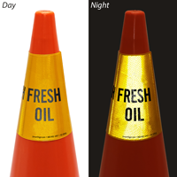 Fresh Oil Cone Message Collar Sign