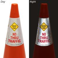Dead End No Thru Traffic Cone Message Collar