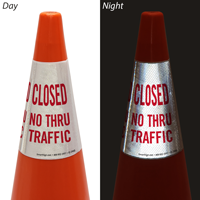 Closed No Thru Traffic Cone Message Collar