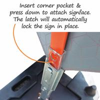 StackMaster Portable Rubber Sign Base