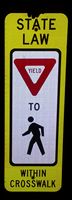 Law Yield Pedestrians Crossing Sign