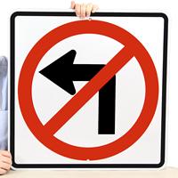 No Left Turn (Symbol) Traffic Signs