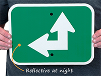 Reflective Arrow Sign