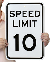 Speed Limit 10 For Traffic Signs