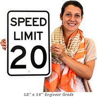Speed Limit 20 For Regulatory Traffic Signs
