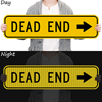 Dead End Right Arrow Symbol Sign