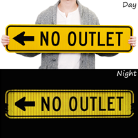 (Left Arrow Symbol) No Outlet Signs