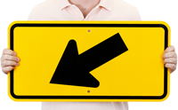 Left Diagonal Arrow (Symbol) - Traffic Signs