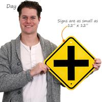 Cross Road Symbol Sign