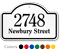 Customizable Dome Top Address Sign