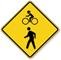 Bicycle With Pedestrian Graphic Share The Path Sign