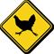 Chicken Crossing Symbol Sign
