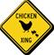 Chicken Xing Diamond Crossing Sign