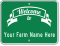 Customizable Welcome To Farm Sign