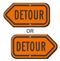 Detour Directional Sign