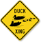 Duck Xing Animal Crossing Sign