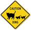 Family Of Cat Caution Xing Sign