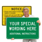 Customizable Horizontal Sign Template