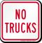 No Trucks On Driveway Sign