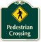 Pedestrian Crossing Signature Sign