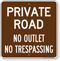 Private Road, No Outlet Sign