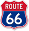 Route 66 Route Marker Shield Sign