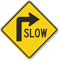 Slow (Right Arrow Symbol) Sign