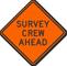 Survey Crew Ahead Road Sign