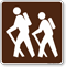 Trail (Hiking) Symbol Sign For Campsite