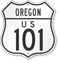 US 101 Oregon Route Marker Shield Sign