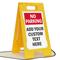 Custom No Parking Standing Floor Sign