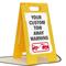 Custom Tow Away Warning Standing Floor Sign